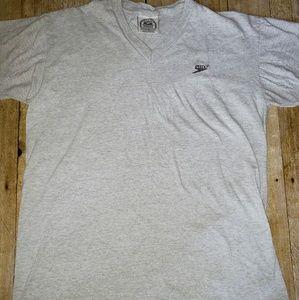 Vintage 90s single stitch Speedo Gray vneck size L